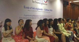 Laos: Ecole d'été francophone régionale 2018