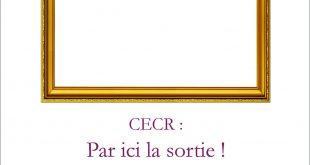 Annonce de parution CECR : par ici la sortie